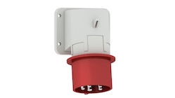 Panel mounting appliance inlet