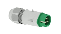 Low voltage plugs and sockets for industry
